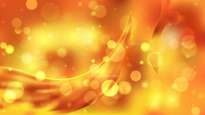 Abstract Orange and Yellow Bokeh Background Vector