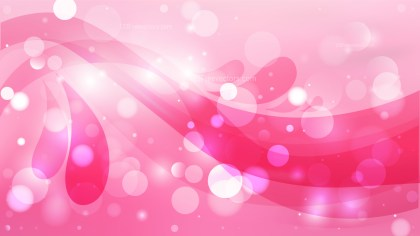 Abstract Pink Bokeh Lights Background Design