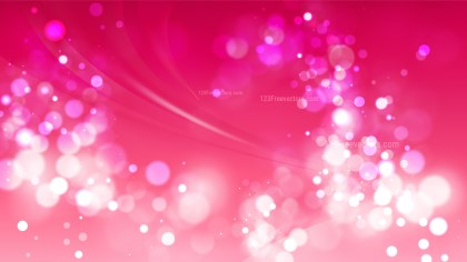 Abstract Pink Blurry Lights Background Vector