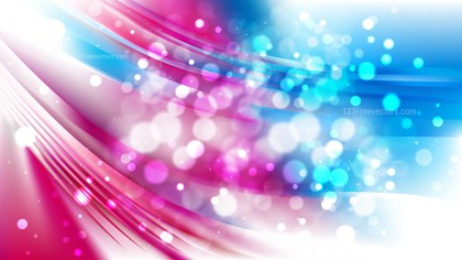 Abstract Pink and Blue Blurry Lights Background Design