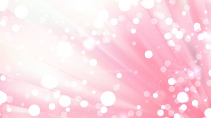 Abstract Pink and White Bokeh Background