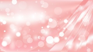 Abstract Pink and White Blurred Bokeh Background