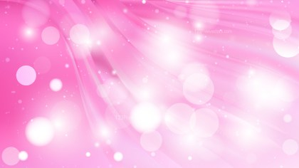 Abstract Pink and White Blur Lights Background