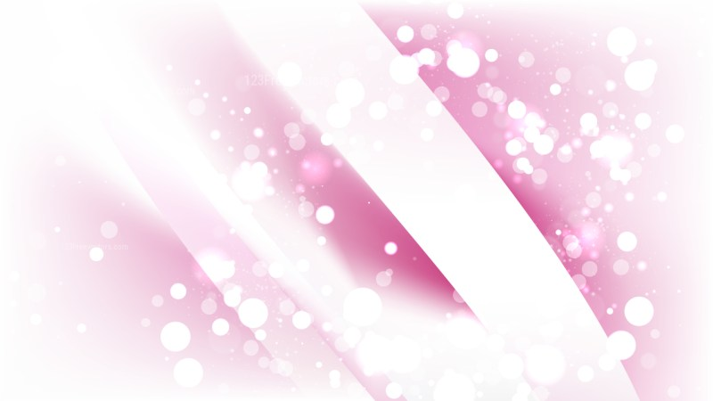 Abstract Pink and White Bokeh Background Vector