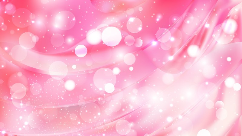 Abstract Pink and White Blurry Lights Background Vector