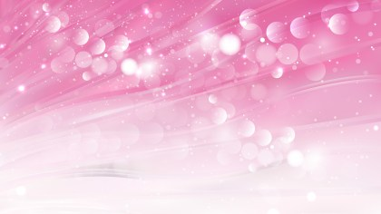 Abstract Pink and White Blurred Bokeh Background Vector