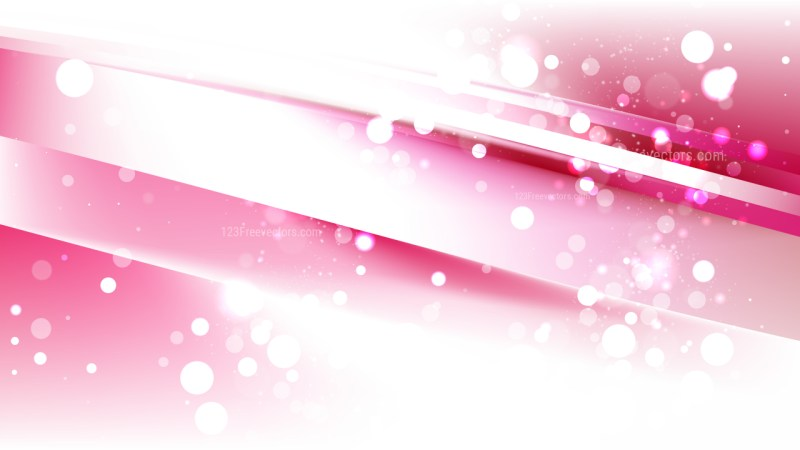 Abstract Pink and White Bokeh Defocused Lights Background Vector