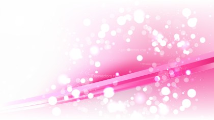 Abstract Pink and White Blurred Lights Background Vector