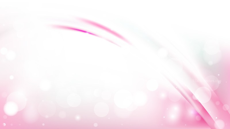 Abstract Pink and White Bokeh Lights Background Design
