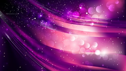 Abstract Purple and Black Bokeh Lights Background