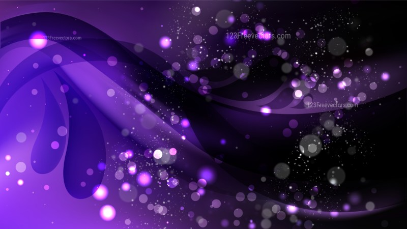Abstract Purple and Black Blurred Lights Background Vector