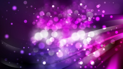 Abstract Purple and Black Defocused Lights Background Vector