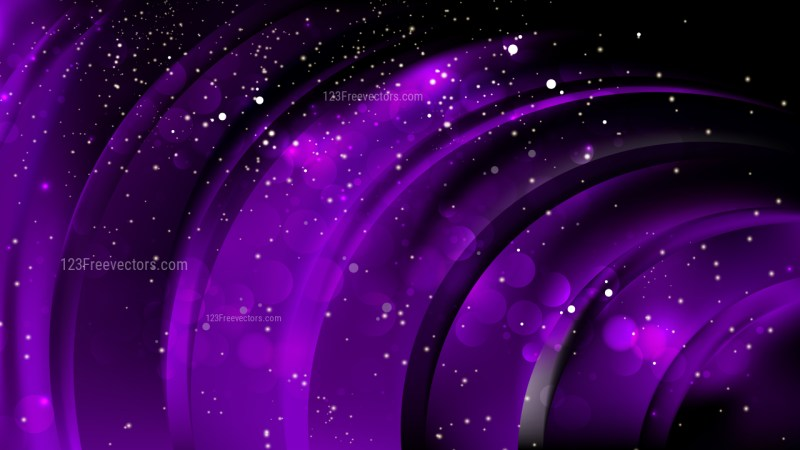 Abstract Purple and Black Blurred Lights Background Image