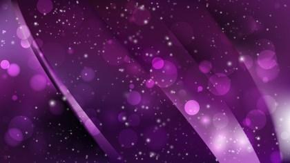 Abstract Purple and Black Bokeh Defocused Lights Background Design