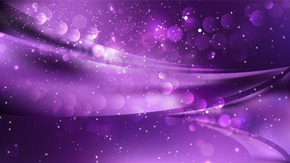Abstract Purple and Black Bokeh Lights Background Design