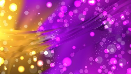 Abstract Purple and Gold Bokeh Defocused Lights Background
