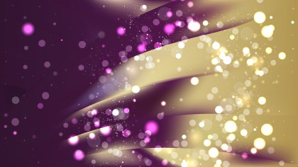 Abstract Purple and Gold Blurred Lights Background