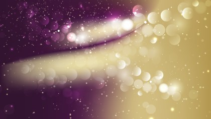 Abstract Purple and Gold Defocused Lights Background