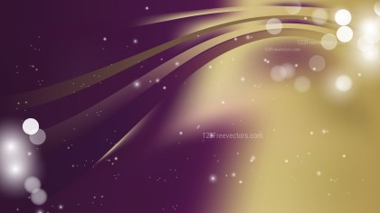 Abstract Purple and Gold Blurred Lights Background Vector