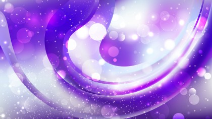Abstract Purple and White Blurred Bokeh Background Vector