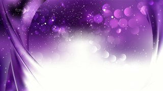 Abstract Purple and White Bokeh Defocused Lights Background Design