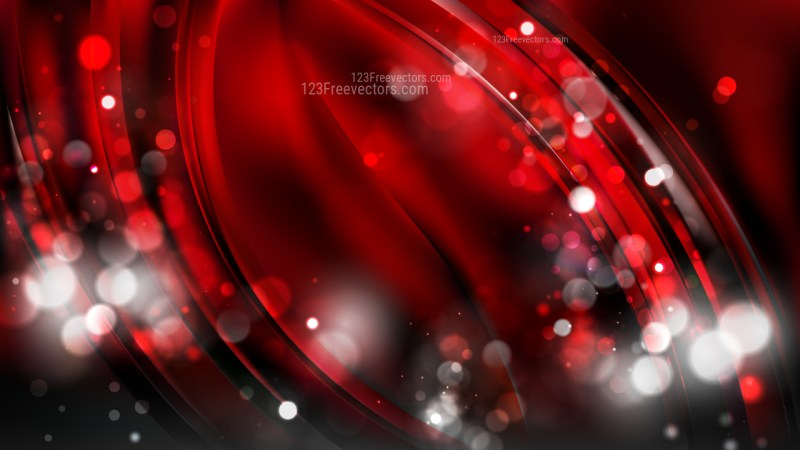 Abstract Red and Black Bokeh Background Design