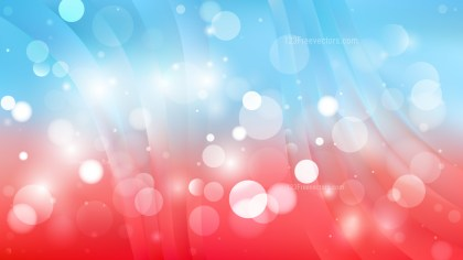 Abstract Red and Blue Bokeh Defocused Lights Background Vector