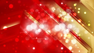 Abstract Red and Gold Defocused Lights Background Image