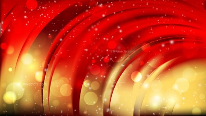 Abstract Red and Gold Blurry Lights Background Image