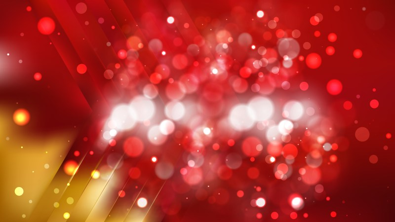 Abstract Red and Gold Blurry Lights Background Design