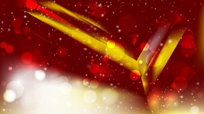Abstract Red and Gold Defocused Lights Background Design