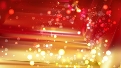 Abstract Red and Gold Blurred Lights Background Design