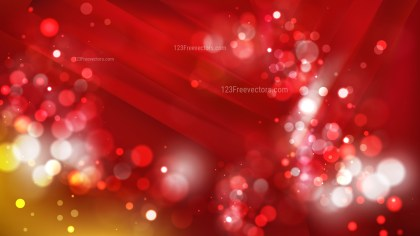 Abstract Red and Gold Lights Background Design