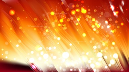 Abstract Red and Orange Bokeh Defocused Lights Background