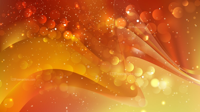 Abstract Red and Orange Blurred Lights Background Vector