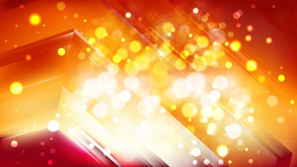 Abstract Red and Orange Blurry Lights Background Vector