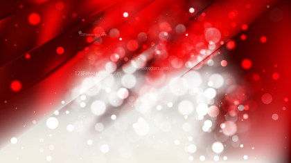 Abstract Red and White Blurry Lights Background Image