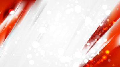 Abstract Red and White Bokeh Lights Background Design