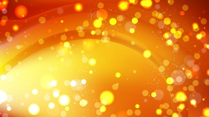 Abstract Red and Yellow Bokeh Background