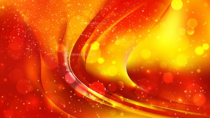 Abstract Red and Yellow Blurry Lights Background