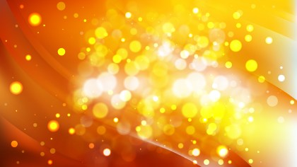 Abstract Red and Yellow Bokeh Lights Background Vector
