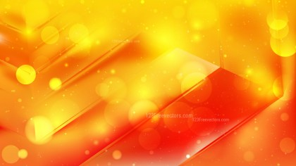 Abstract Red and Yellow Lights Background Vector