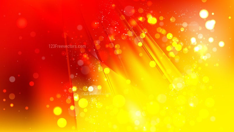 Abstract Red and Yellow Blurry Lights Background Image