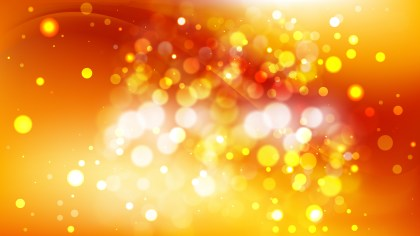 Abstract Red and Yellow Blurred Bokeh Background Image