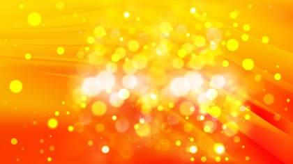 Abstract Red and Yellow Bokeh Defocused Lights Background Image