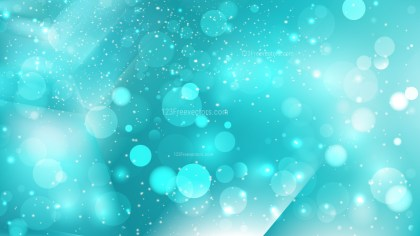 Abstract Turquoise Bokeh Lights Background Design