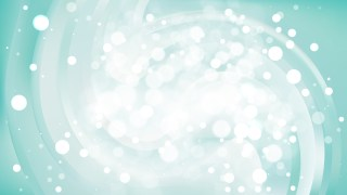 Abstract Turquoise and White Blurry Lights Background