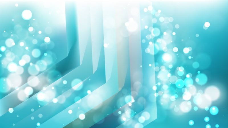 Abstract Turquoise and White Lights Background