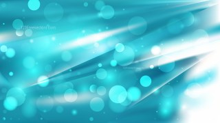 Abstract Turquoise and White Defocused Background
