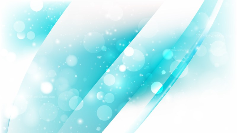 Abstract Turquoise and White Blurred Bokeh Background